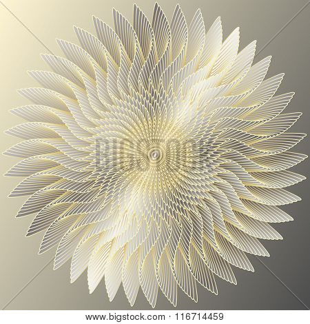 Golden circular symbol