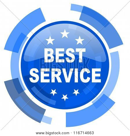 best service blue glossy circle modern web icon