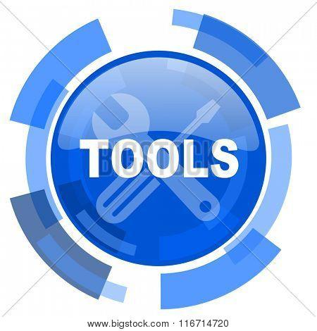 tools blue glossy circle modern web icon