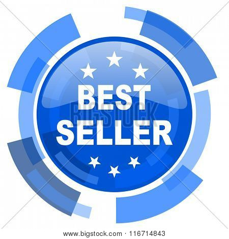 best seller blue glossy circle modern web icon