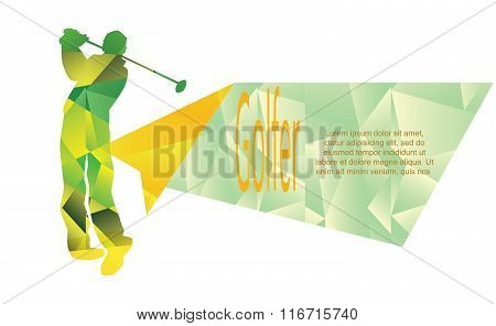 Vector - Illustration - golf sport poster