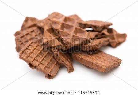Chocolate Blocks On A White Background