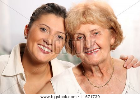 Grandma And Grandaughter