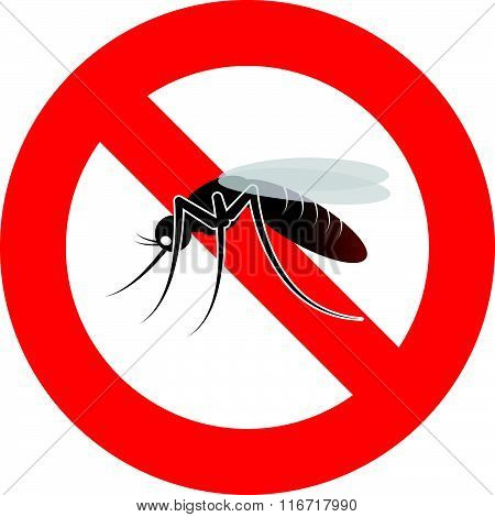warning mosquito sign
