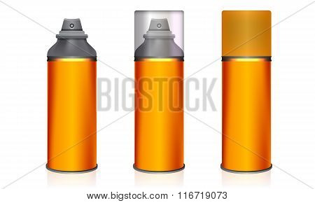 Cosmetic spray bottles set isolated. Vector