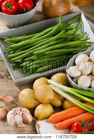 Healthy Raw Organic Vegetables.