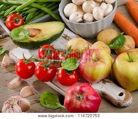 Healthy Raw Vegetables.