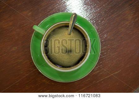 Cup Of Art Espresso On Desk