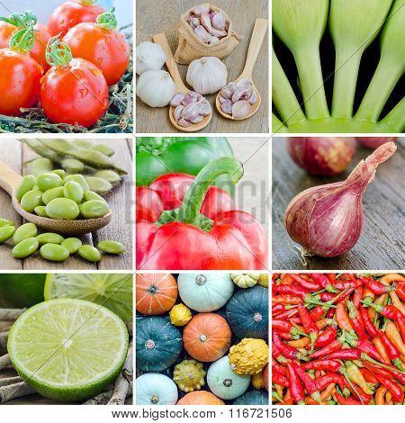 Collage Vegetables