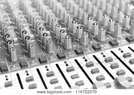 Sound Mixer Black And White