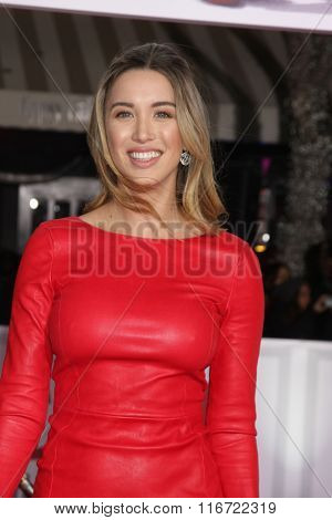LOS ANGELES - FEB 1:  Melissa Bolona at the Hail, Caesar World Premiere at the Village Theater on February 1, 2016 in Westwood, CA