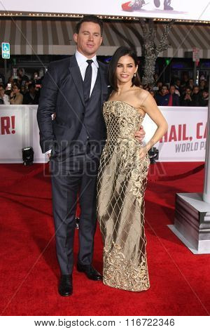LOS ANGELES - FEB 1:  Channing Tatum, Jenna Dewan-Tatum at the Hail, Caesar World Premiere at the Village Theater on February 1, 2016 in Westwood, CA