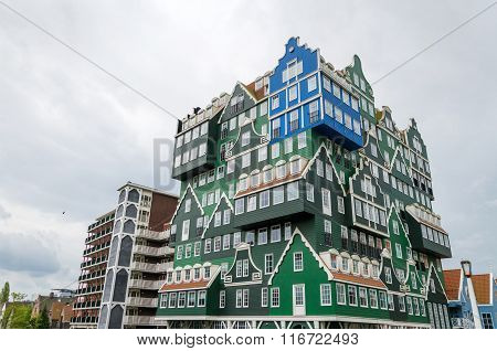 Zaandam, Netherlands - May 5, 2015: Inntel Hotels Landmark In Zaandam, Netherlands
