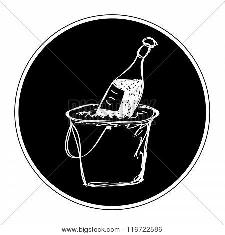 Simple Doodle Of Champagne In A Bucket