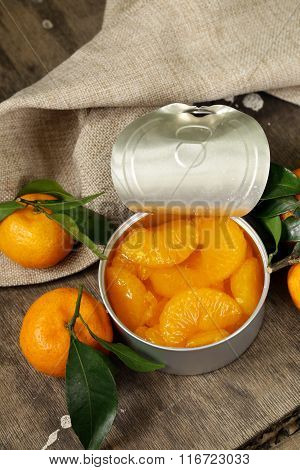 natural organic canned mandarin (orange) in syrup