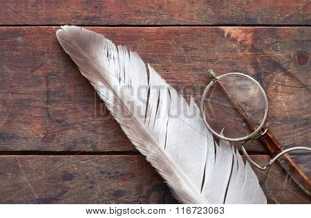 Old Spectacles And Quill