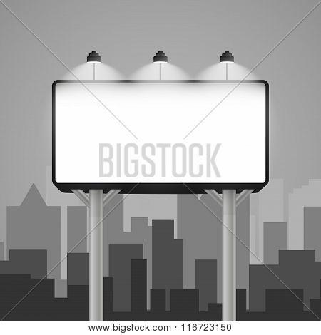 billboard mockup in the city