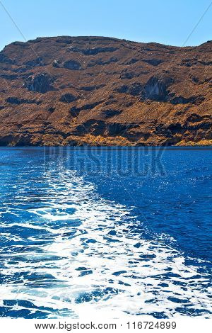 From The Boat  Froth   Greece