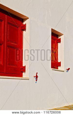 Greece Antique     Window    Concrete