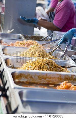 Fresh Noodles At A Streetfood Vendor