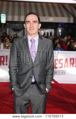 LOS ANGELES - FEB 1:  Patrick Fischler at the Hail, Caesar World Premiere at the Village Theater on February 1, 2016 in Westwood, CA