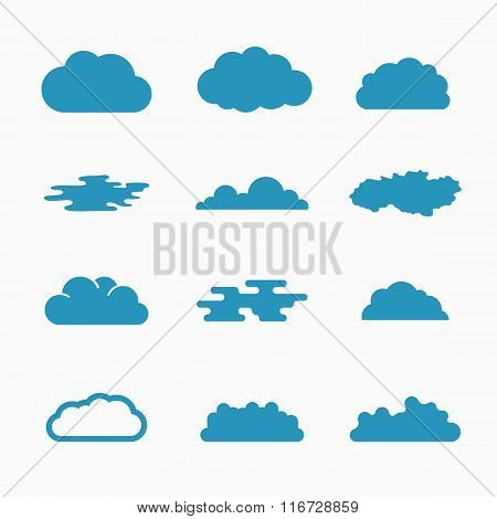 Cloud icons, vector illustration