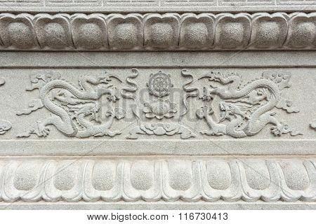 Granite Carving In Chinese Temple
