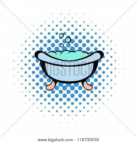 Baby bath comics icon