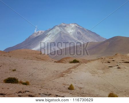 Volcan Ollaque At Bolivian Altiplano