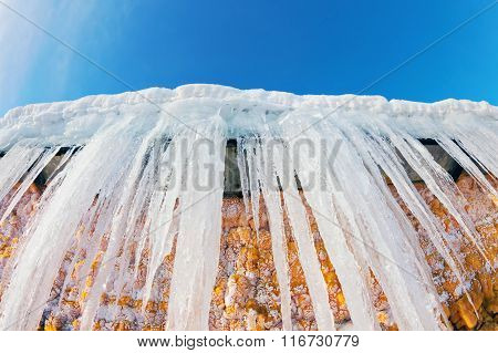 Huge icicles