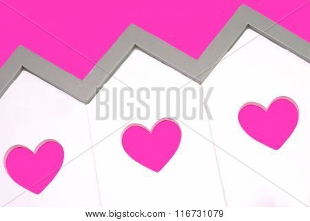 House Model With  Windows In The Shape Of A Heart