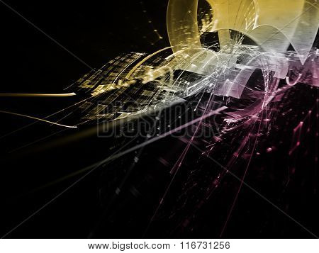 Abstract technology background design. Detailed computer graphics.