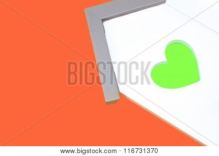 House Model With Window In The Shape Of A Heart