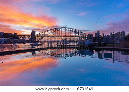 Sunrise At Sydney Harbour Bridge