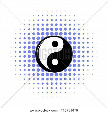 Yin yang comics icon