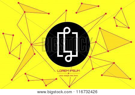Abstract concept creative vector letter L. Colorful app logo icon element isolated on background. Ar