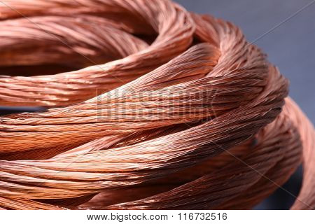 Closeup of copper wire