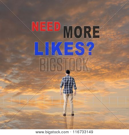 Need More Likes? Message on the sky.