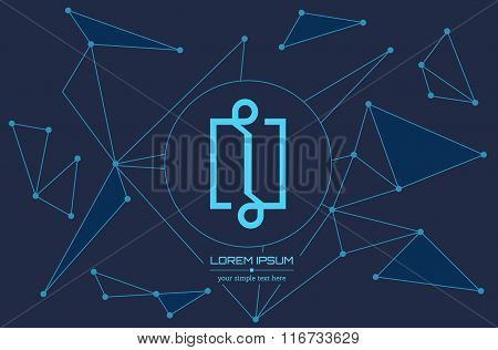 Abstract concept creative vector letter A. Colorful app logo icon element isolated on background. Ar