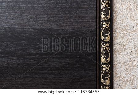 Background With Dark Wood Texture