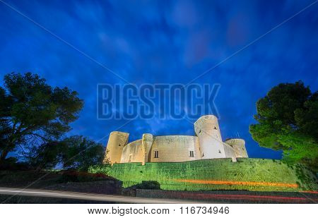 Bellver Castle by nigh in Majorca, wide angle