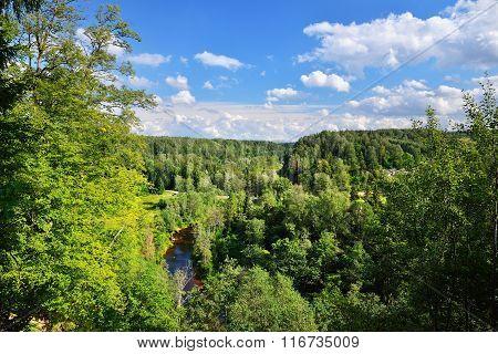 Amata River Valley In Gauja National Park, Latvia