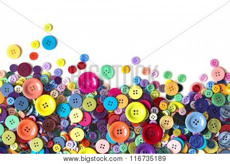Colorful buttons on a white background