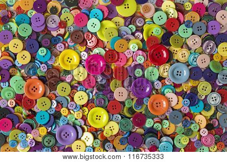 Colorful buttons close up background