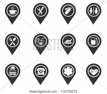 map pointer symbols