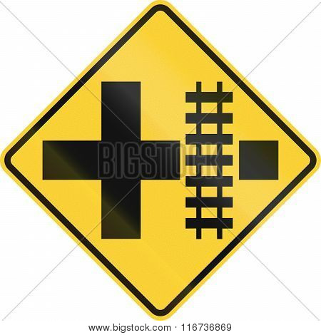 United States Mutcd Road Sign - Level Crossing And Intersection