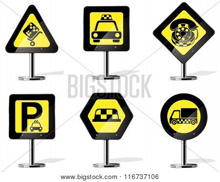 taxi services icon set