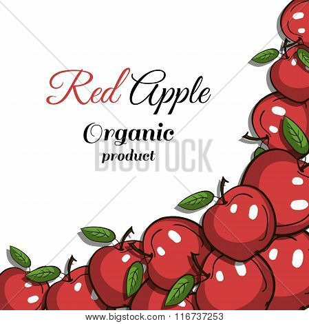 Frame Red Apples