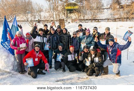 The Participants Of The Winter Swimming, 4 January 2016.