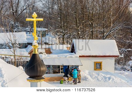 The Holy Source Of The Tikhvin Icon Of The Mother Of God, January 24, 2016.